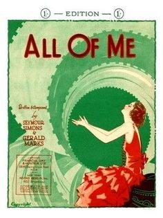 All of Me #sheetmusic by Simon & Marks, as recorded by #Sinatra scored for #piano #vocal #guitarchords #singerpro in #Aflat-Major but #transposable #jazz #jazzstandard #jazzclassic #jazzsheetmusic #musicnotes #affiliate