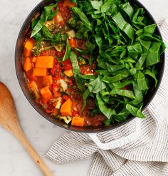 This easy, healthy vegan stew is the BEST dish to curl up with on a cool fall or winter night. It takes 30 minutes to make and keeps well in the fridge - perfect for a weeknight or making ahead! Soup Recipes, Vegetarian Recipes, Vegetarian Stew, Healthy Recipes, Healthy Food, Recipies, Vegan Stew, Stewed Potatoes, Sweet Potato Soup