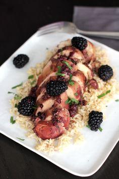 Slow Cooker Blackberry Chicken | Melanie Makes melaniemakes.com #crockpot