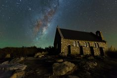 Celestial Church - aurora astralis and milky way over the church on lake tekapo, ending a 16 day trip to south island tomorrow and im off to the north.
