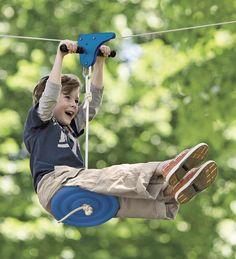 Cool outdoor swings for kids - Slackers Zipline