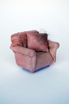Love UK artist Jessica Harrison's miniature furniture. It reminds me of Surrealist Meret Oppenheim. Related posts: Stunning Sculpture Of Children. Meret Oppenheim, Instalation Art, Bizarre Art, Mind The Gap, Arte Horror, Miniature Furniture, Soft Sculpture, Art Plastique, Textile Art