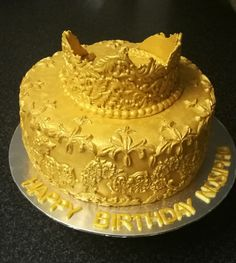 Crown inspired birthday cake from CakesbySthabile
