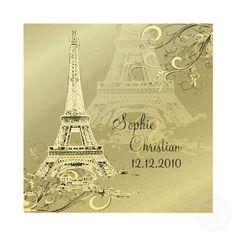 Destination Paris Wedding Invitations invitation