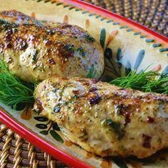 Three-Ingredient Baked Chicken Breast...
