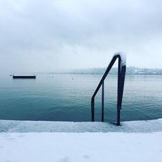 Morning run in the snow  #zurich #lakezurich #switzerland #snow #running #travel by liesvonyellow
