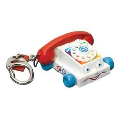 Tiny Fisher Price Chatter Phone Keychain.