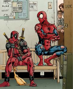 Deadpool e Homem Aranha