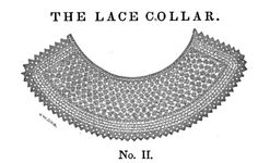 World Turn'd Upside Down: Civil War Era Knit-Along ---- knitted lace collar, click through, then click through image again for Google Books link.