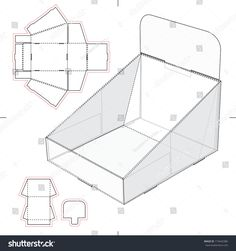 Find Display Stand Tray Blueprint stock images in HD and millions of other royalty-free stock photos, illustrations and vectors in the Shutterstock collection. Pop Display, Display Design, Display Boxes, Cardboard Display, Cardboard Toys, Paper Box Template, Craft Booth Displays, Paper Stand, Printable Box