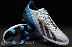 adidas adizero F50 Metallic TRX FG Leather - Silver/Black/Blue
