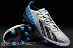 adidas adizero F50 Metallic TRX FG Leather - Silver/Black/Blue