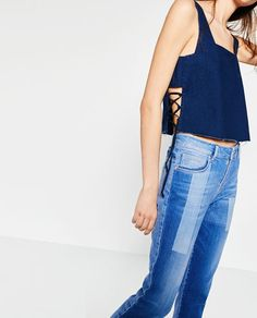 DENIM TOP WITH CORDS-Collection-TRF-NEW IN | ZARA Israel
