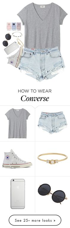 """Summer nights"" by josie-posie on Polyvore featuring Converse, Native Union, Jennie Kwon, Lipsy and Nails Inc."