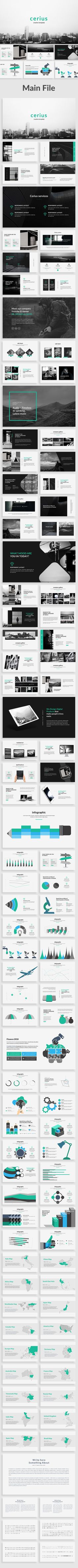 Cerius Creative Powerpoint Template - #Creative #PowerPoint #Templates Download here: https://graphicriver.net/item/cerius-creative-powerpoint-template/20142885?ref=alena994