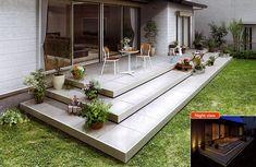 ついに発売!今度はウッドデッキじゃなくてタイルデッキです。 Backyard, Patio, West Village, Terrace, Deck, Exterior, House Design, Landscape, Architecture
