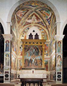 View of the apsidal chapel. 1464-65 Fresco Sant'Agostino, San Gimignano.