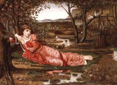The Athenaeum - Song without Words (John Melhuish Strudwick - No dates listed)
