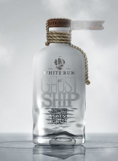 Ghost Ship White Rum | #packaging #rum #bottledesign