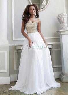 Ärmellos trägerloser Ausschnitt luxus sexy bodenlanges Abendkleid für Rechteck Figur