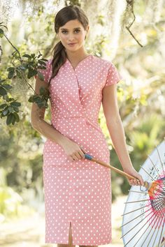 Shabby Apple Perfect Peach Dress