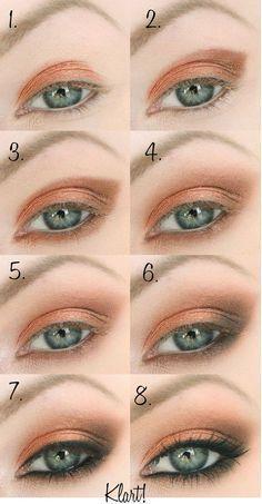 Step by step eye makeup tutorial for beginners #makeupforbeginners
