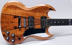"""Replica of Frank Zappa's Gibson SG, known better as """"Baby Snakes"""" Sg Guitar, Guitar Body, Music Guitar, Cool Guitar, Guitar Pics, Acoustic Guitars, Art Music, Baby Snakes, Famous Guitars"""