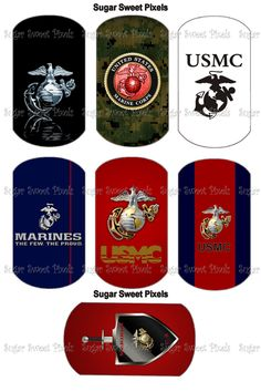 United States Marine Corp Inspired Digital Dog by sugarnspicebow, $1.50