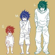Aw, look how cute little L is! death note! XD !!!