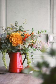 The bride barefoot - DiY - A bouquet of autumn