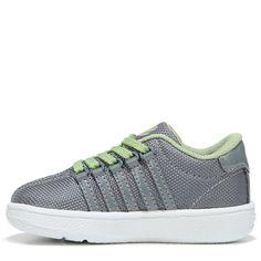 K-Swiss Kids' Classic VN T Sneaker Grade School Shoes (Gray/Tarragon/White) - 6.5 M