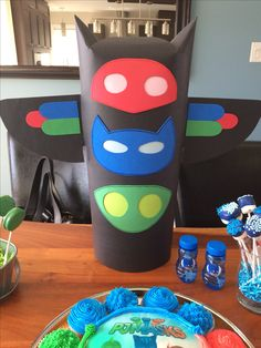 Pj Mask Party Decorations Can Make This Out Of Trifold Boardsbuy One That Is Already Black