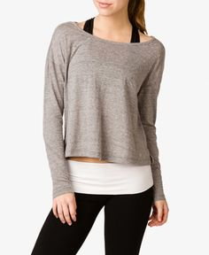Heathered Workout Top