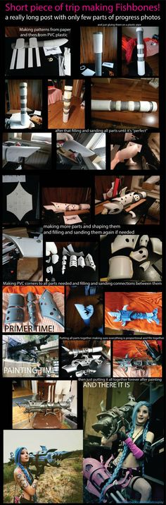 Step by stem Fishbones cosplay prop making. Jinx from League of legends prop DIY