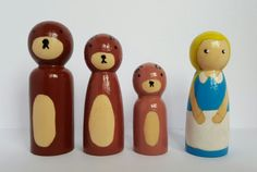 Hey, I found this really awesome Etsy listing at https://www.etsy.com/uk/listing/400722265/goldilocks-and-the-three-bears-peg-dolls