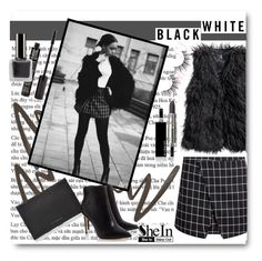 """Black & white"" by ajla-p ❤ liked on Polyvore featuring Stila, H&M, Victoria Beckham, TheBalm and Givenchy"