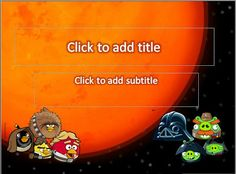After so long without an update, this time to present a template 4presentation.net Angry Bird Star War, another design template angry bird, this time themed Angry Bird Star Wars, a new game after the Angry Bird Angry Bird Space. Angry Bird Star Wars is a combination of the Angry Bird Space as found also features the Angry Bird Space gravity feature.
