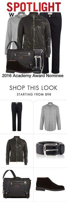 """""""2016 ACADEMY AWARD NOMINEE"""" by wearwhatyouwatch ❤ liked on Polyvore featuring Current/Elliott, Maison Margiela, Giorgio Brato, Diesel, Tumi, Barneys New York, men's fashion and menswear"""