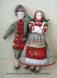 Народные куклы ручной работы. Ярмарка Мастеров - ручная работа Кукла в русском народном костюме (пара). Handmade.