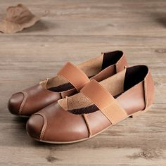 New Handmade Leather ShoesOxford Women Shoes Flat by HerHis