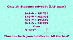 Whatsapp Mathematical Puzzle: If 3+5+6=151872, 9+4+7=? - BhaviniOnline.com