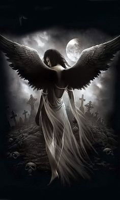 Angels often walk through graveyards protecting the fallen from entities who would use then. Sariel is one such Angel.
