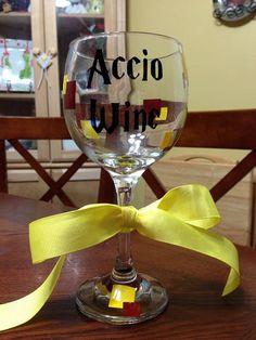 Harry Potter themed wine glass