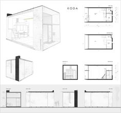 Kodasema Designs a Movable Pre-Fab Mini House Prototype First Presented at the Tallinn Architecture Biennale Prefabricated Houses, Prefab Homes, Tiny Homes, Movable House, Microhouse, Compact House, Tiny House Plans, Modular Homes, Tiny House Design