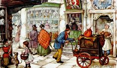 Anton Pieck was a Dutch painter and graphic artist. The work of Anton Pieck contains paintings in oil and watercolour, etchings. Illustration Arte, Illustrations, Decoupage, Anton Pieck, Dutch Painters, Dutch Artists, Arabian Nights, 3d Prints, Figure Painting