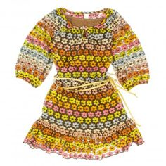 Featured brand: #Fall dresses for girls: Love U Lots Girls 2-6X 'Multifloral' 3/4 Sleeve Lace Peasant Dress with Rope Belt