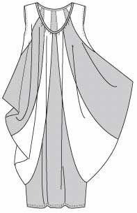 Fun Issey Miyake pattern Vogue 1238 for stretch knits