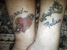 Wedding tattoos - Key to my heart.
