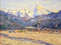 """The Valley of the Nervia"" by Claude Monet, 1884 ・ Style: Impressionism ・ Genre: landscape"