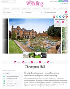 FEATURED: #Screengrab lovely to see one of our images on http://www.youandyourwedding.co.uk/venues/nottinghamshire/thrumpton-hall/ … #youyourwedding for #ThrumptonHall  Thank you.  #TeamMP #MPMedia